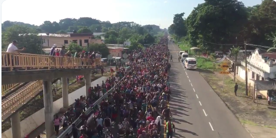 Reports:  Caravan Continues Its Way North, Grows to 5,000
