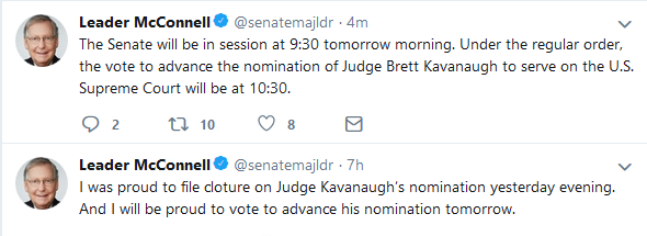 Senate to Hold Procedural Vote Friday Morning