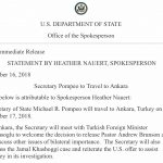 Pompeo to Meet with Turkish Officials about Saudi Journalist