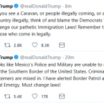 "Trump:  Approaching Caravan Constitutes ""National Emergency"""