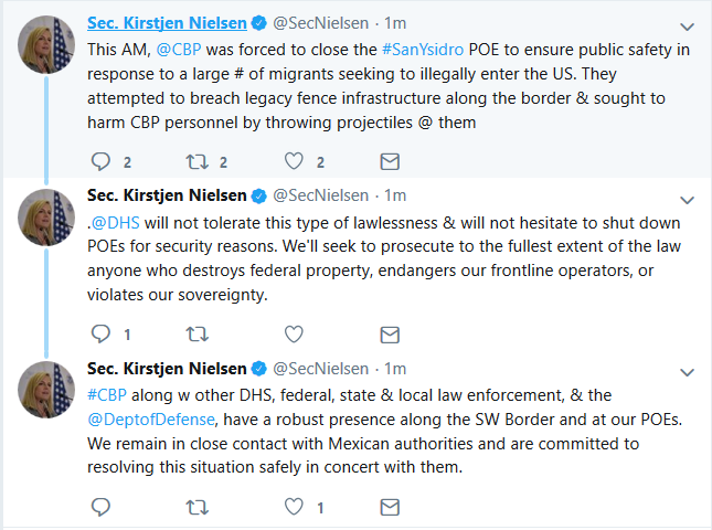 DHS:  Port of Entry Closed in Response to Rush of Illegals