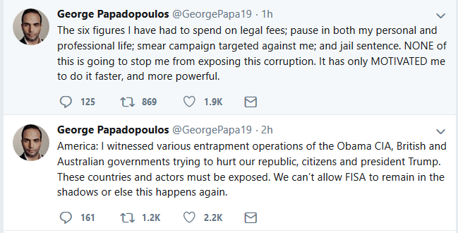 "Papadopoulos Claims CIA and U.S. ""Allies"" Attempted to ""Hurt Our Republic"""