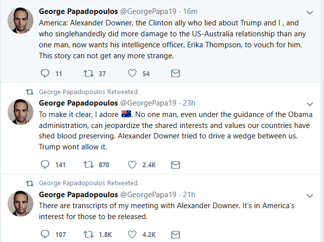 Papadopoulos Tells The Australian He Plans to Run for Congress