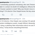 "Papadopoulos Implicates CIA Director in Russia ""Collusion"" Plot"