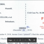 Corsi Attorney Announces Hearing Date in Mueller Lawsuit