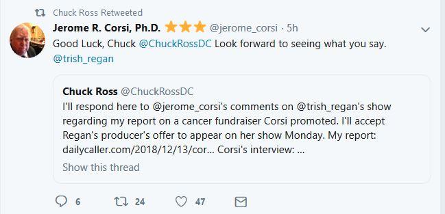 Corsi Ross to appear on Trish Regan 12-15-18