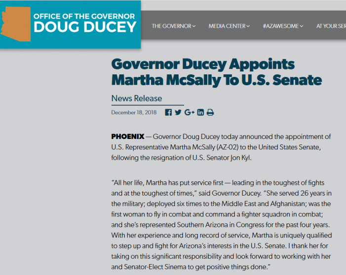 """McSally """"Wins"""" Senate Seat After All"""