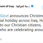 Christmas Now an Official Holiday in Iraq