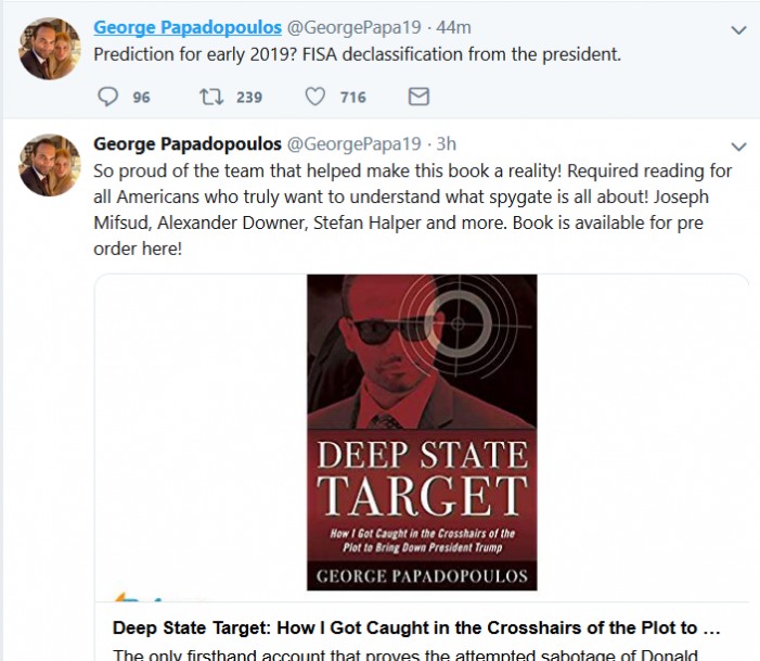 Papadopoulos Predicts FISA Docs will be Declassified
