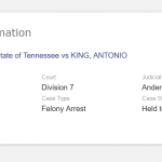 Memphis, TN:  Will There Be Justice for Antonio King?