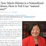 """US Senate"" Accesses ""natural born Citizen"" Article"