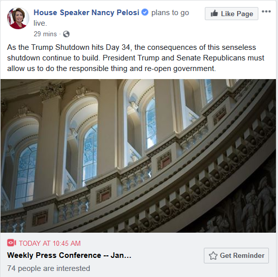 Pelosi to Give Press Conference Thursday, 10:45 a.m. EST