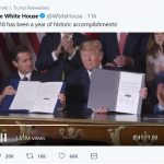 Trump Rings in the New Year on Twitter