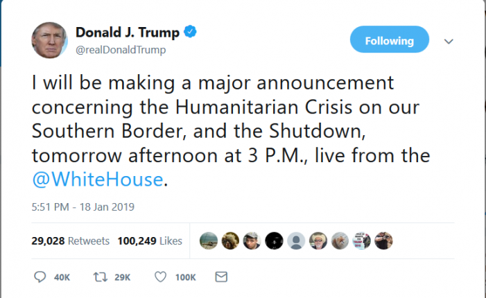 "Trump to Make ""Major Announcement"" on Saturday"