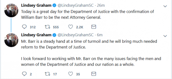 William Barr Confirmed as Next U.S. Attorney General