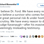 "Three Democrat Senators ""Believed"" Kavanaugh Accuser…"