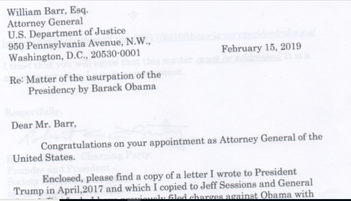 "Concerned Citizen Contacts New Attorney General about Obama's ""Usurpation"""