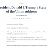 Observations on State of the Union Speech (RR)