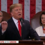 Nancy Pelosi Peruses Papers During SOTU Speech
