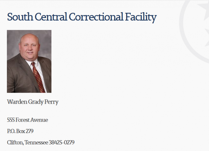 Tennessee:  SCCF Inmate Reports Racial Slurs, Threats, Unsanitary Conditions