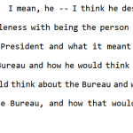 "Congressional Testimony:  Comey Concerned for What Trump ""Would Think about the Bureau"""