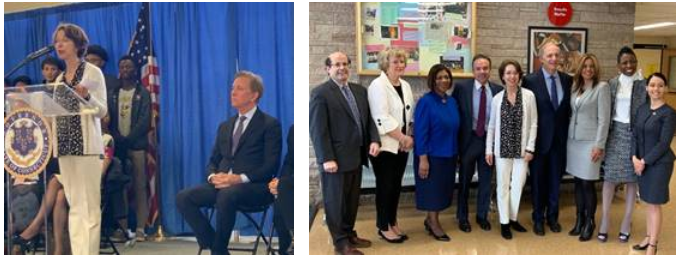 Mayor Ganim Joins Governor Lamont to Announce $100 Million Donation to Connecticut Public Schools