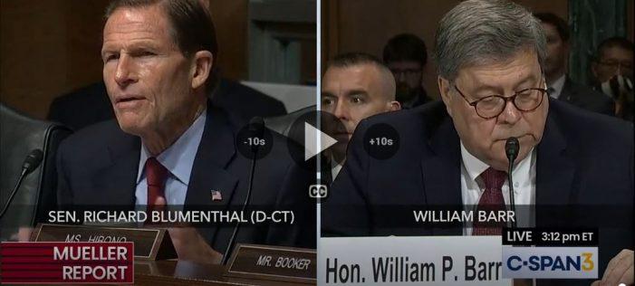 "Barr Tells Blumenthal ""No"""