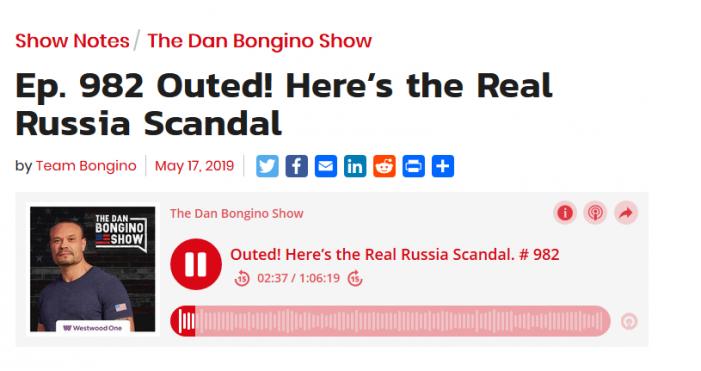 "Bongino:  ""Russian Collusion Real,"" Obama White House Involved"