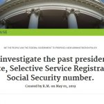 """White House Petition Asks Justice Department to Investigate Obama's """"Documentation"""""""