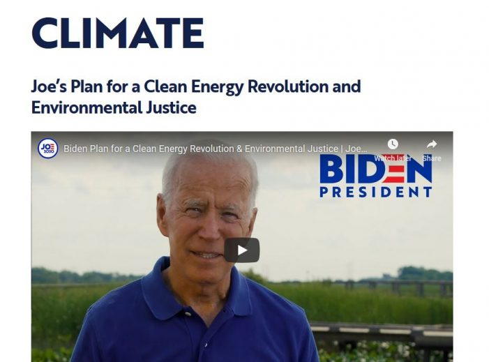 "Reality Bites Joe Biden's ""Clean Energy Revolution"""