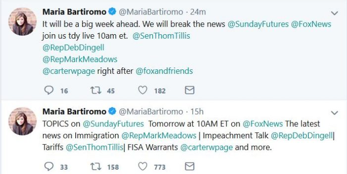 "Bartiromo to ""Break the News"" on Classified Information"