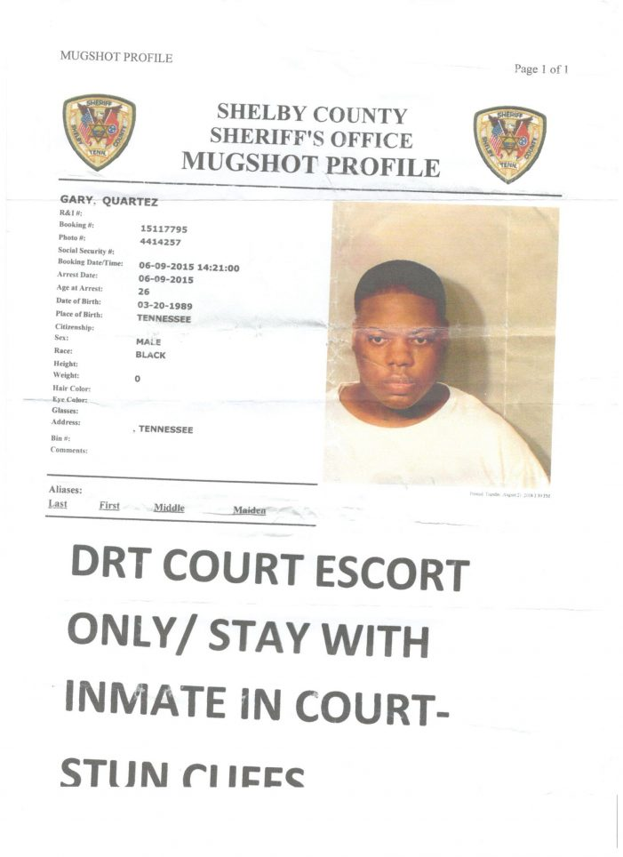 Why is Quartez Gary Still in the Shelby County Jail?