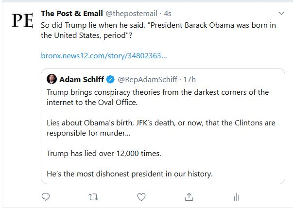 "Is Adam Schiff a ""Birther""?"