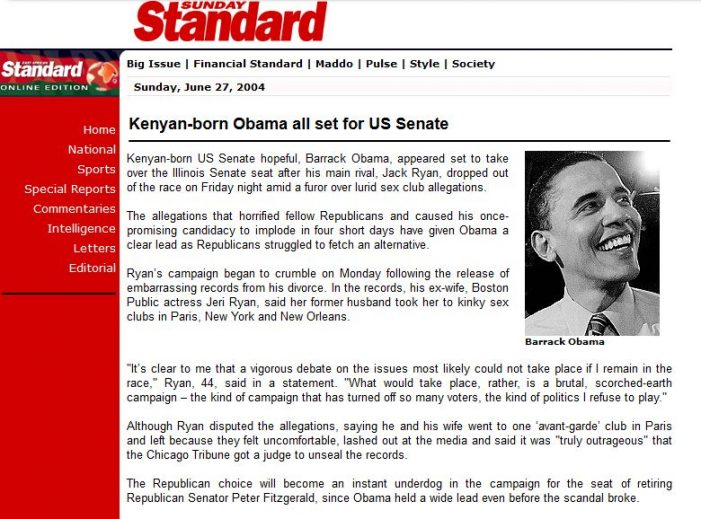 "AP Reads its Own Story on ""Kenyan-Born"" Obama"