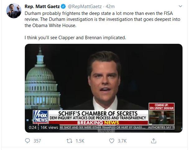 "Congressman:  ""I Think You'll See Clapper and Brennan Implicated"""