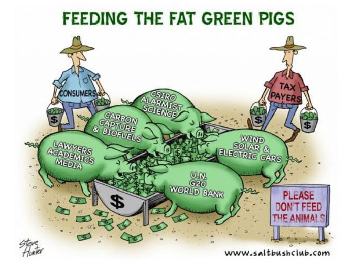 Feeding the Fat Green Pigs