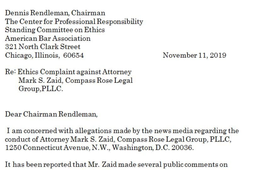 """Citizen Files Complaint with ABA Against """"Whistleblower"""" Attorney - The Post & Email"""