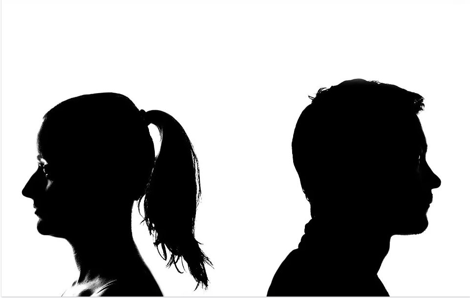 divorce black silhouette