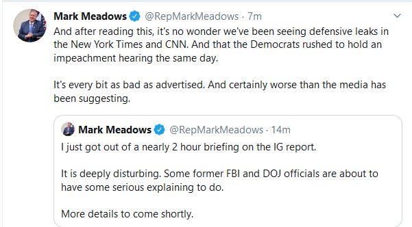 "Congressman:  Upcoming IG Report ""Deeply Disturbing"""