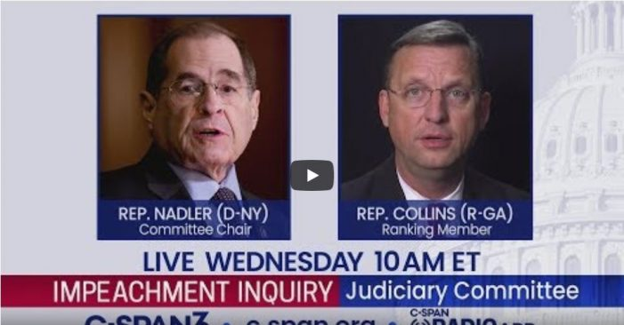 """""""Fraudulent Impeachment is Unconstitutional Attainder;"""" Law Professor Victor Williams Submits Testimony Challenging Anti-Trump Academics at House Judiciary Hearing"""