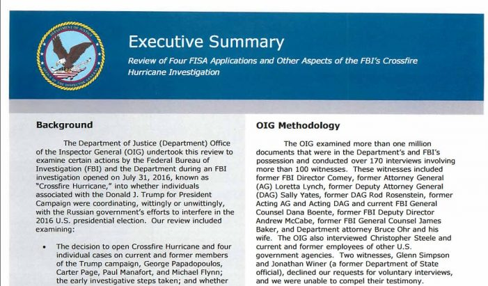 Inspector General Report a Whitewash (RR)