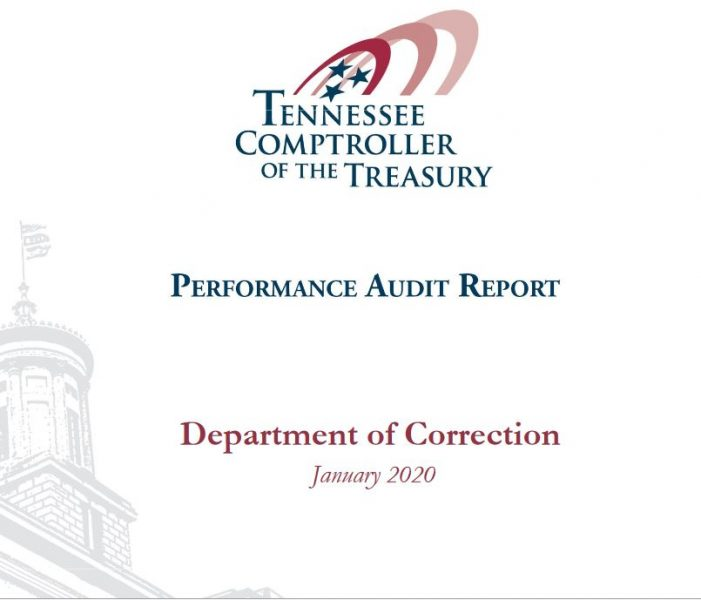 Tennessee Comptroller Audit Notes Significant Shortcomings in Prison Management
