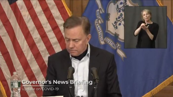 """Connecticut Governor Tells Citizens to """"Wear a Mask"""""""
