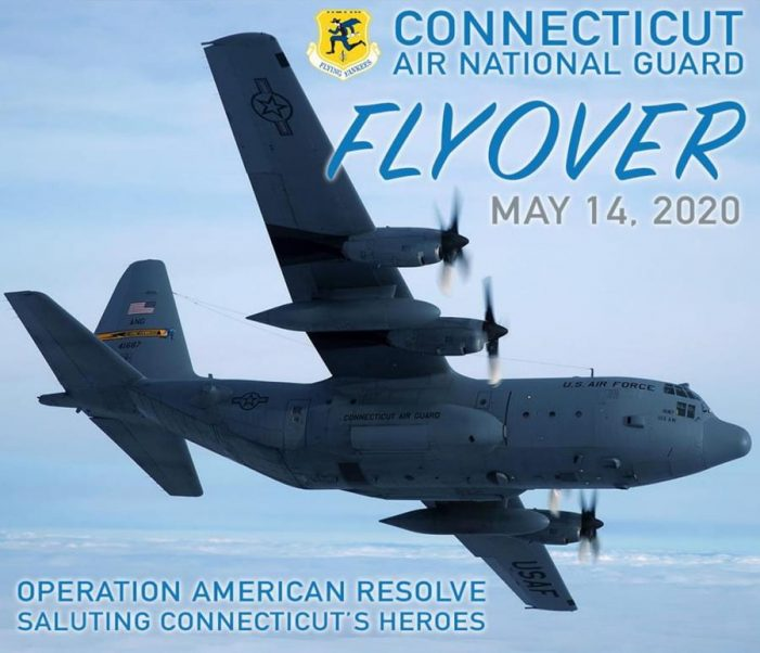 Look to the Sky around 11:40AM – Flyover Salute for Connecticut's Health Care Workers