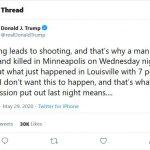 """Trump Clarifies """"Looting"""" Tweet Flagged by Twitter"""