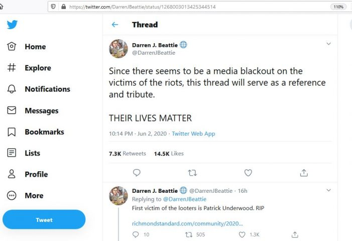 Twitter User Compiles List of Victims of Recent Riots