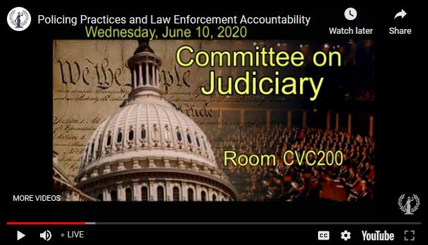 House Judiciary Committee Launches Hearing on Police Practices