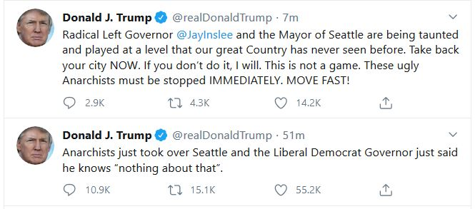 """Trump Says Will Act on """"Capitol Hill"""" if Governor Does Not"""