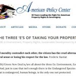 The Three 'E's of Taking Your Property