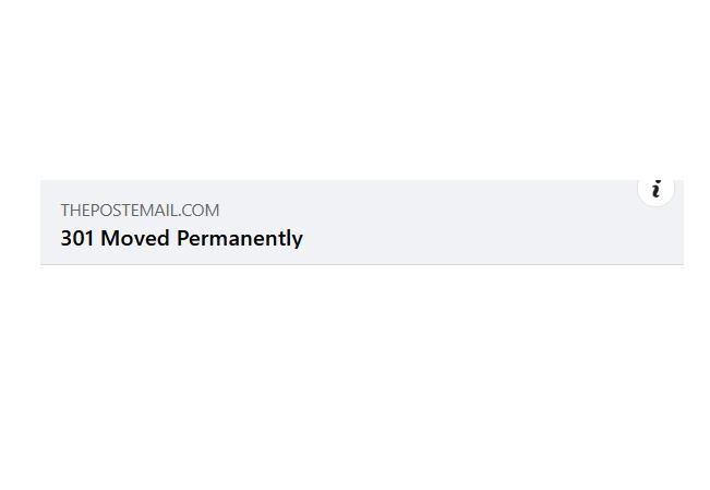 """301"" Reposting Error Reported on Facebook"